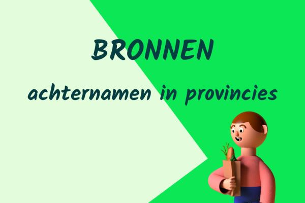 Achternamen in provincies