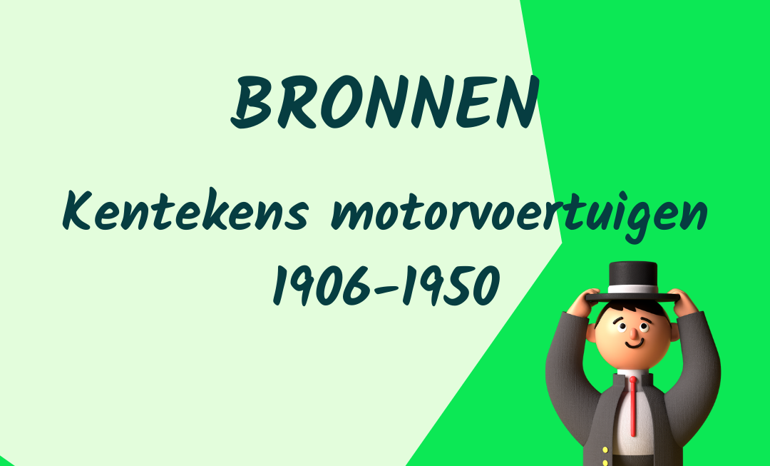 Kentekens motorvoertuigen 1906-1950